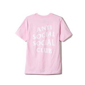 Anti Social Social Club Tops - Anti Social Social Club Logo Tee Pink