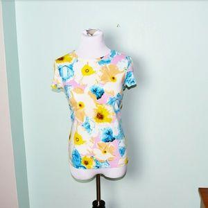 Vera Wang Tops - Vera Wang Floral Print Top