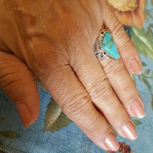 Arizona Turquoise Ring Sterling Silver