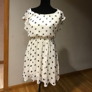 Lush Dresses & Skirts - Lush cream polkadot dress