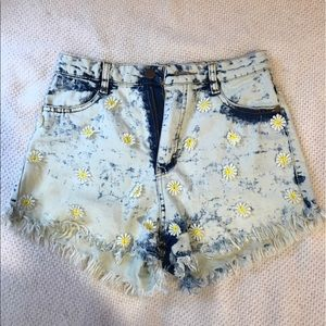 36 Point 5 Pants - High Waisted Jean Shorts