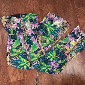 Flying Tomato Pants - Tropical Hawaii Floral One Piece Romper Playsuit