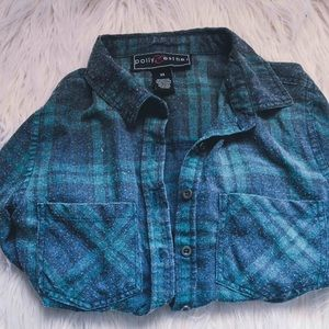 Tops - Green and Blue Flannel XS