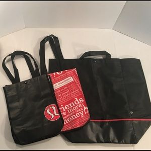 Lululemon Bundle of 3 Shopping Totes