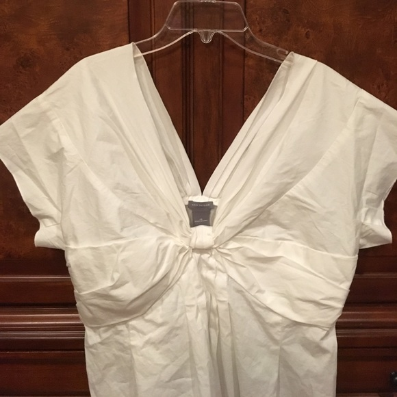 90 off ann taylor tops crisp white cotton shirt sleeves for Crisp white cotton shirt