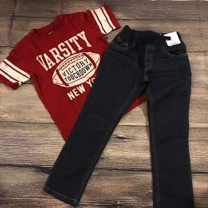 Boys 5T outfit. Jeans never worn.