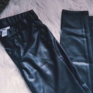 Bar III Pants - Bar 3 Faux Leather Leggings Small