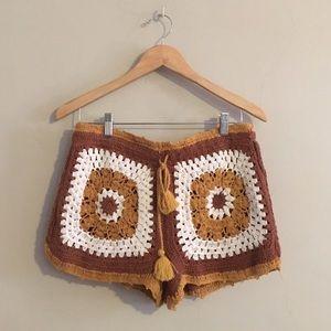 NWOT Zara Crochet Shorts