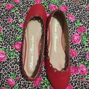 Athena Alexander Shoes - NWOT. Red slip ons size 7.5