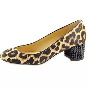 Michael Kors Leopard Calf Hair Studded Heels