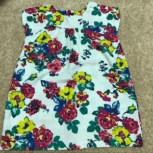 Tea Collection Other - Tea Collection floral button shoulder shirt SZ3