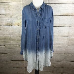 Anthropologie Dresses & Skirts - Anthropologie Holding Horses Dip Dyed Chambray