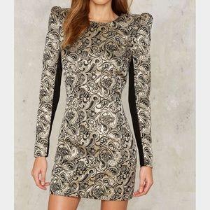 37🐰💛 nasty gal constantine jacquard mini dress