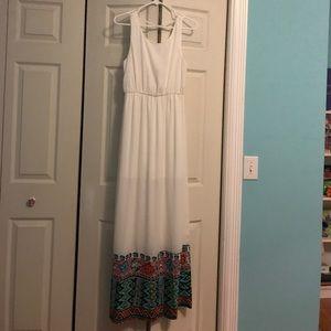 White Maxi Dress NWOT