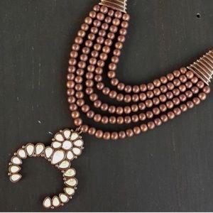 Copper Squash Blossom Necklace