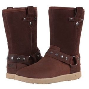 SALE NIB UGG® Australia 'I Heart Moto' Boot Brown
