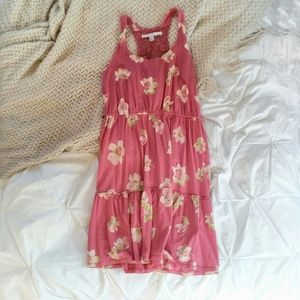Bright Pink Floral Sundress