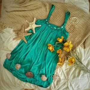 Turquoise Bubble Dress
