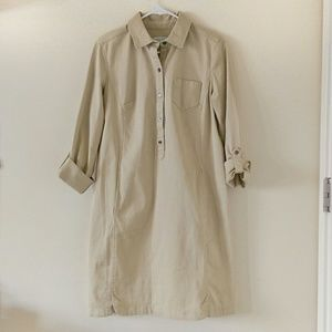 8497a06cea9 J. Jill Dresses - J. Jill Live in Chino Beige Shirt-Dress