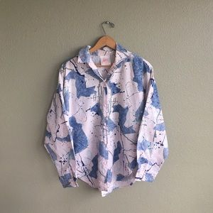 Vintage Eber San Francisco Abstract Button Down