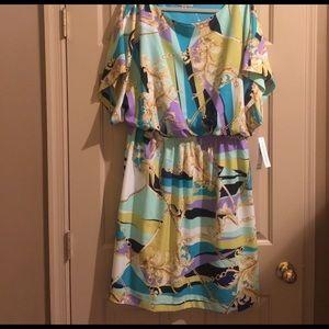 Plus size printed dress 18w