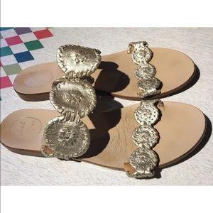 Jack Rogers Shoes - Jack rogers sandals Lauren 10 platinum