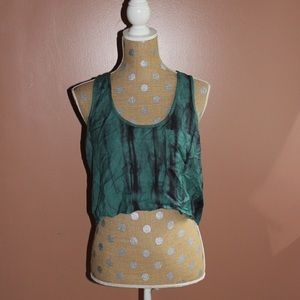 NWT green marbled UO crop top