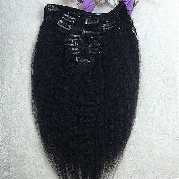 ... straight clip in Remy hair extensions from Stacey
