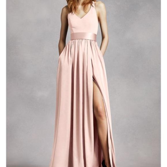 183a1cf9d3a0 David's Bridal Dresses & Skirts - White by Vera Wang - V neck Halter ...
