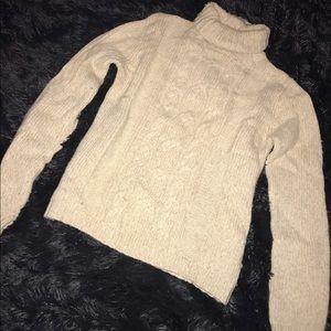 TCM Sweaters - Cream turtleneck sweater