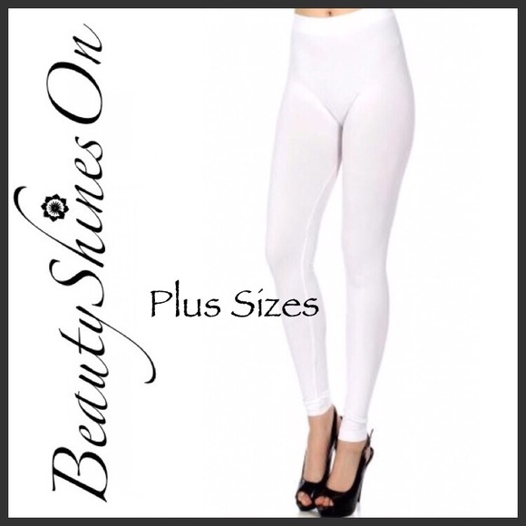 2c1bf38a9b1 ... 🆕 OS Fits 1X-3X LILA White Leggings. Boutique. Beauty Shines On  Boutique