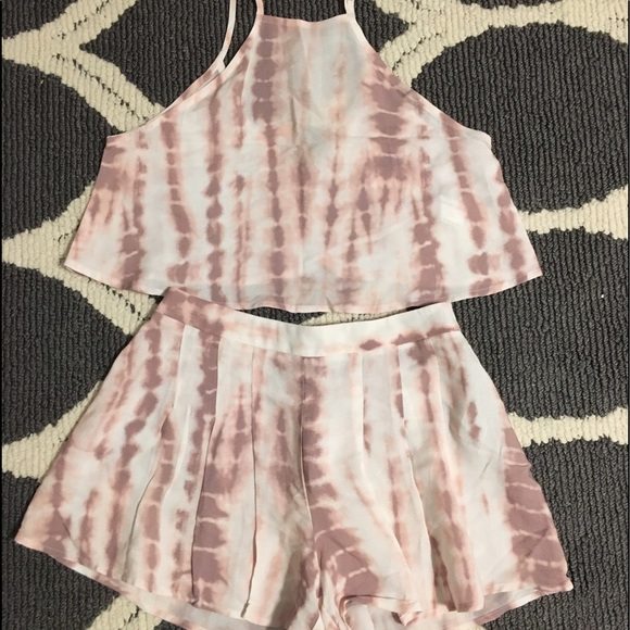 60 off forever 21 other  pink and white tiedye two