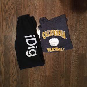 Volleyball Sweats/ Shirt Duo