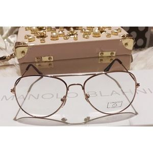 Ray-Ban Accessories - Rose pink frames aviator clear sunglasses