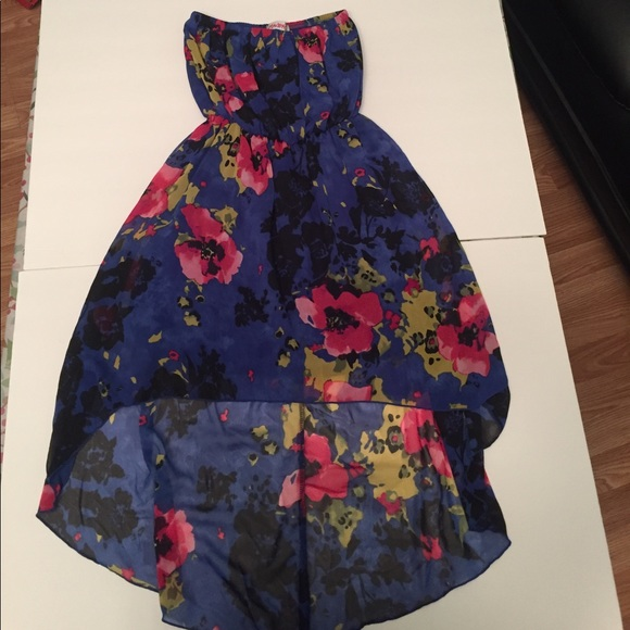 cute floral hilow summer spring dress size medium m from