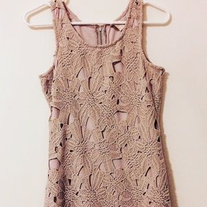 Dresses & Skirts - Laced Beige Dress