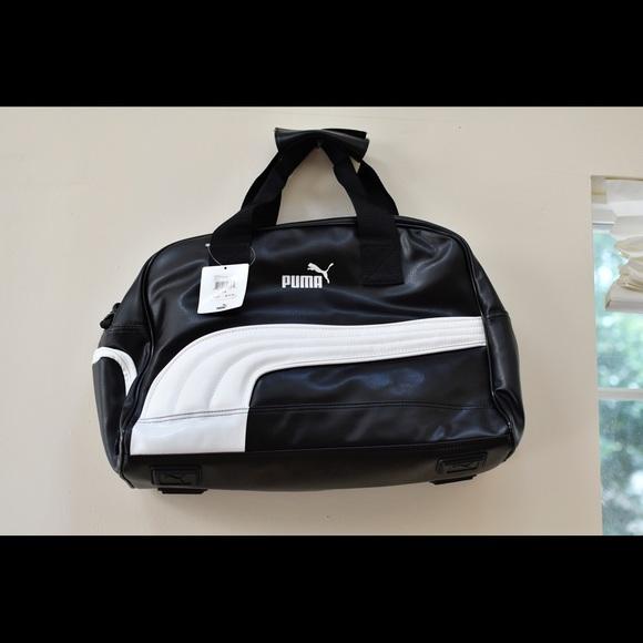 56d372bb861d 100% Authentic PUMA Heritage Grip Bag Color Black