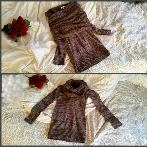 WOW couture Sweaters - Brown & Blue-Gray Sweater Dress