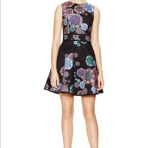 Cynthia Rowley Moonflower Bonded Fit & Flare Dress