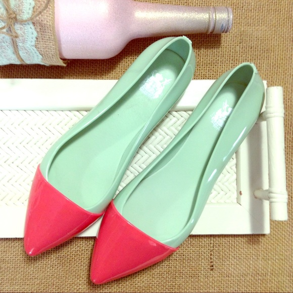 Shoes   Watermelon Color Block Pointed