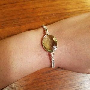 Jewelry - Sterling Silver Green Amethyst Bracelet