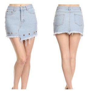 Dresses & Skirts - LAST 3️⃣ Denim Skirt with Grommets