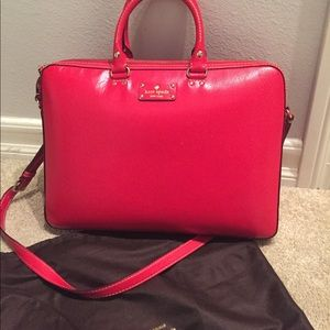 Red Kate Spade Saffiano leather Laptop Bag