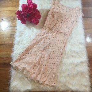 Escada Dresses & Skirts - ESCADA Pink Silk Polka Dot Flutter Sleeves Sz 34