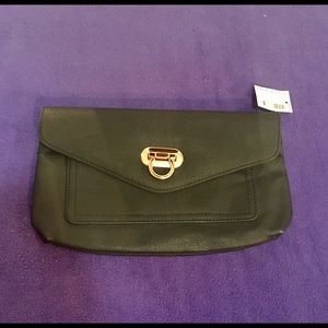 Black and Gold Clutch Bag -- brand Warehouse