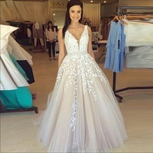 Dresses & Skirts - Wedding Dress Luxury Formal Gown Lace Custom Made