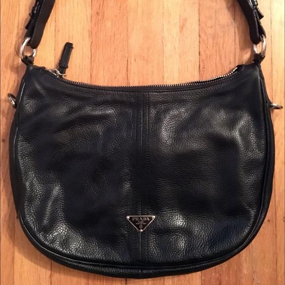 e08281c7c323 Prada Bags | Vitello Daino Leather Hobo Saddle Bag Purse | Poshmark