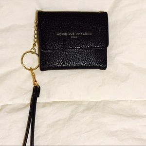 Accessories - Womens black leather clutch