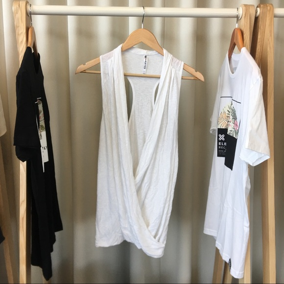 Fabletics Tops - Fabletics Aruba Wrap Surplice Top in White