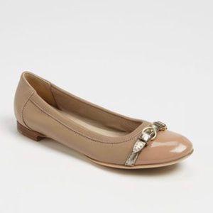 Attilio Giusti Leombruni Shoes - 😍 AGL Nude Italian Leather Ballet Flats